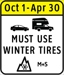 Must Use Winter Tires Sign