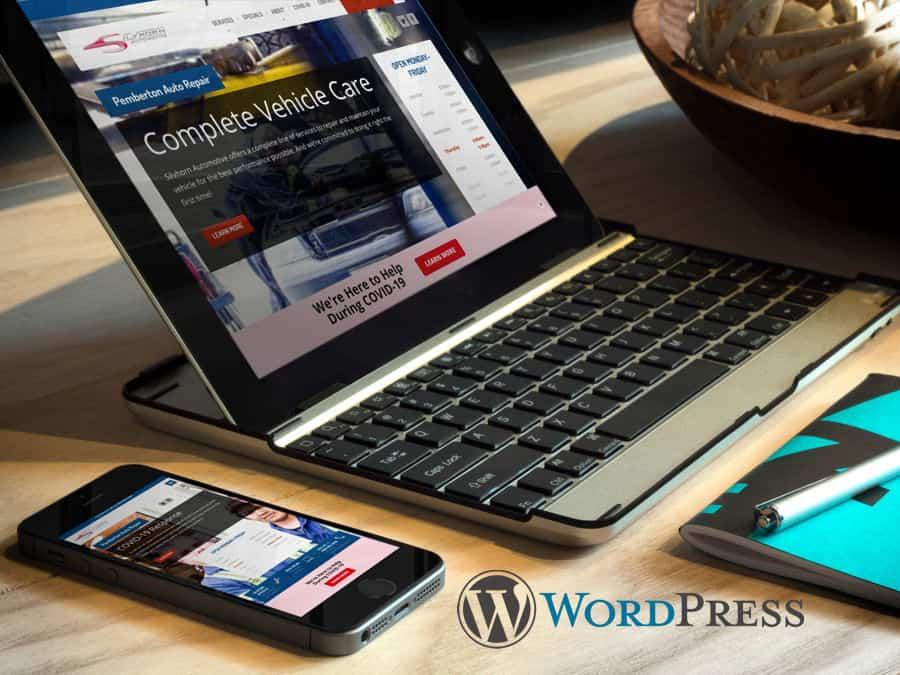 Silvhorn Automotive Website Design WordPress